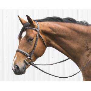 Mono Crown Hunter Bridle with  Laced Reins